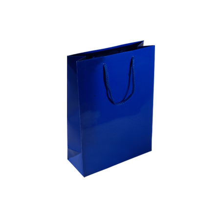 Pbl84sg Small Royal Blue Gloss Laminated Paper Gift Bags