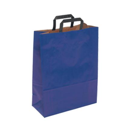 Medium Dark Blue Kraft Paper Bag - Portrait