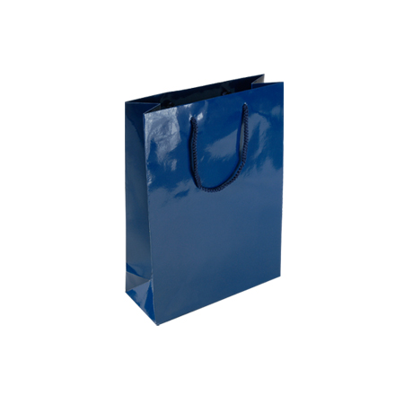 PNB84SG - Small Navy Blue Gloss Laminated Paper Gift Bags