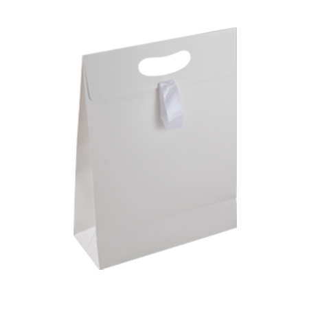 Rwh81mm Medium White Matt Laminated Paper Gift Bags