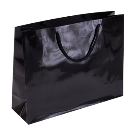 Pbk85lg Large A3 Size Black Gloss Laminated Paper Bags