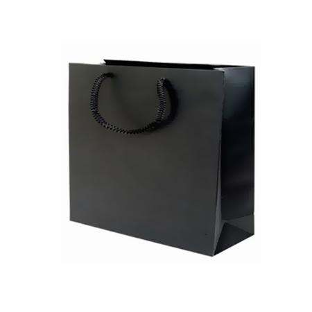 Pbk85lm Large Black Matt Laminated Paper Bags