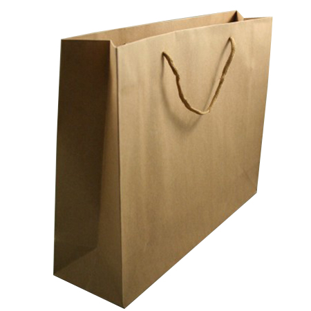 Large Natural Brown Paper Gift Bag with Corded Handle
