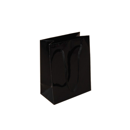 Ex Small Black Gloss Laminated Paper Bags