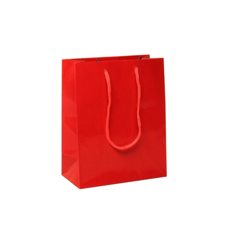 Ex Small Red Gloss Laminated Paper Bags
