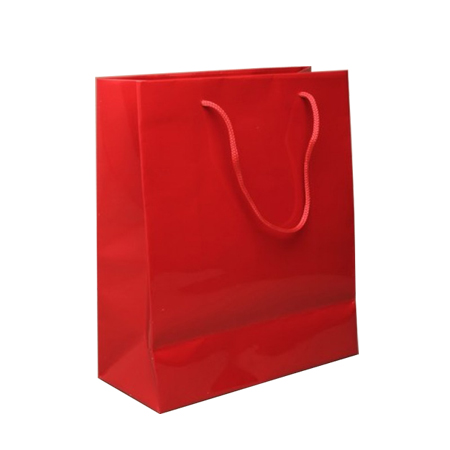 Small Red Gloss Laminated Paper Bags