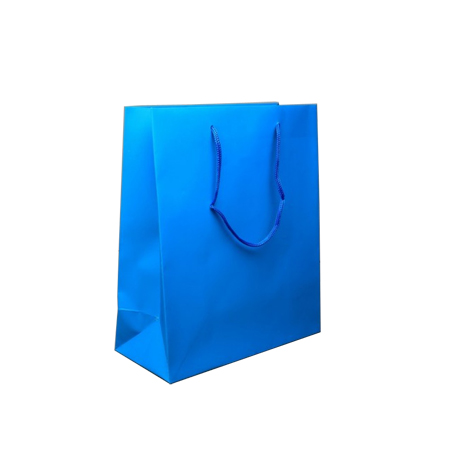 Small Turquoise Matt Laminated Paper Bags