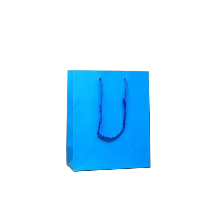 Ex Small Turquoise Gloss Laminated Paper Bags