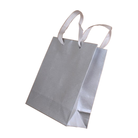Ex Small Silver Grey Metallic Paper Gift Bags