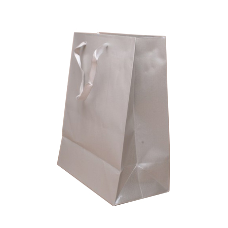 Small Silver Grey Metallic Paper Gift Bags
