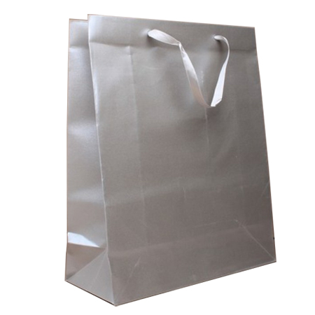 Medium Silver Grey Metallic Paper Gift Bags