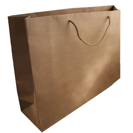 Extra Large Natural Brown Paper Gift Bag with Corded Handle