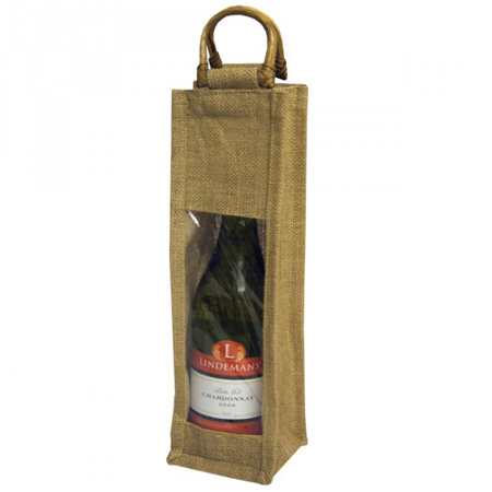 Single-Natural Jute-Bottle Jute Bags