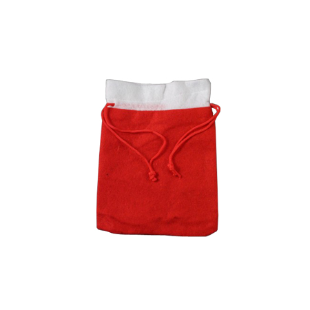 Medium Christmas Santa Sack with Red Cord Drawstring