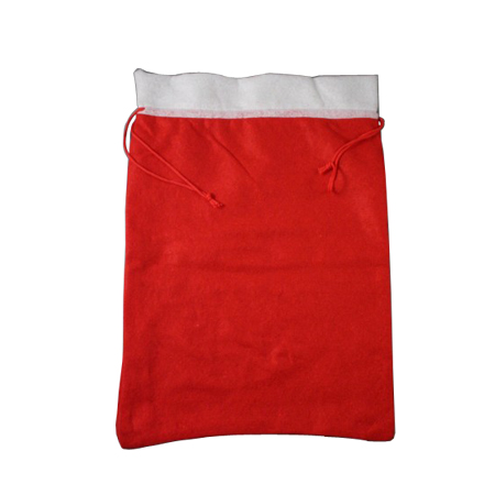 Large Christmas Santa Sack with Red Cord Drawstring