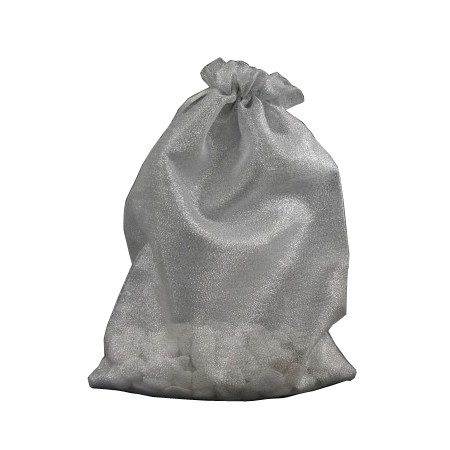 Medium Silver Organza Gift Bag with Shiny Silver Thread