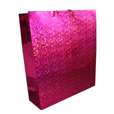 Large-Pink-Holographic Gift Bag