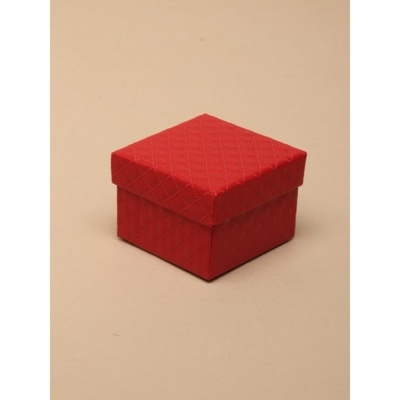 Extra Small Red Quilted Style Gift Box