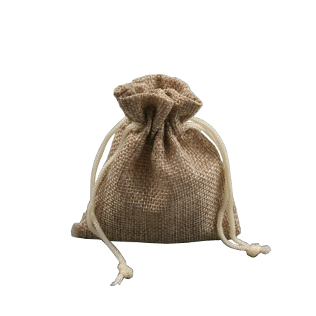 Ex Small Oatmeal Coloured Jute Effect Drawstring Gift Bag