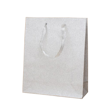 Small Silver Glitter Paper Gift Bags