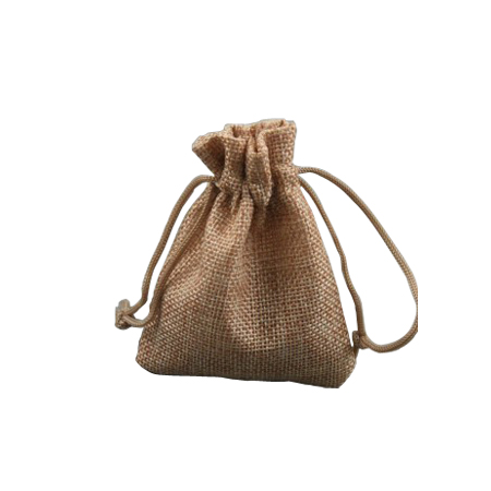 Ex Small Pebble Coloured Jute Effect Drawstring Gift Bag