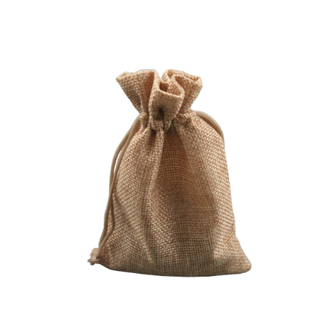 Small Pebble Coloured Jute Effect Drawstring Gift Bag