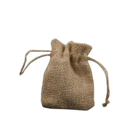 Ex Small Natural Sack Cloth Drawstring Gift Bag