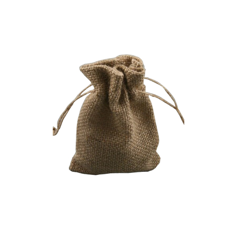 Small Natural Sack Cloth Drawstring Gift Bag