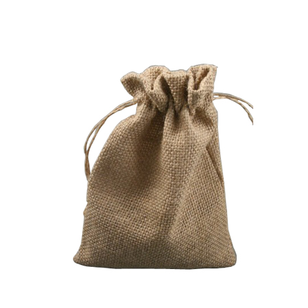 Medium Natural Sack Cloth Drawstring Gift Bag
