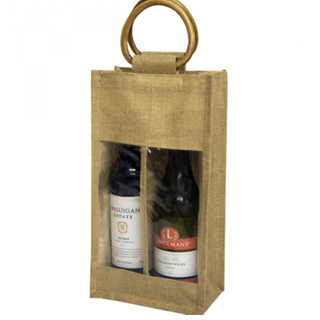 Double-Natural Jute-Bottle Jute Bags