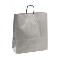 Large Silver Kraft Paper Bag