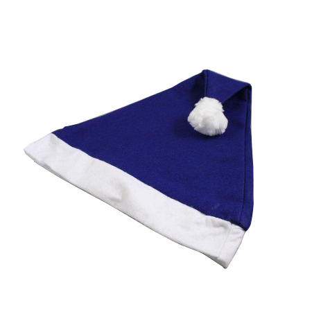 Christmas Santa Hat in Blue with White Trim