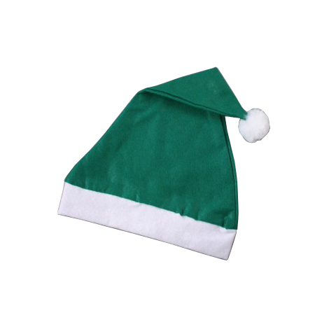 Adult size-Green with White Trim-Christmas Santa Hats