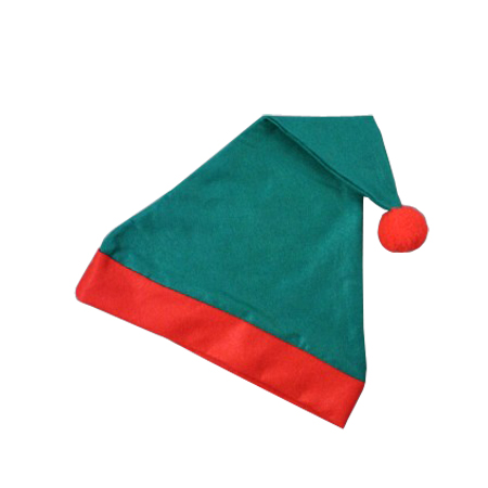 Christmas Elf Hat in Green with Red Trim