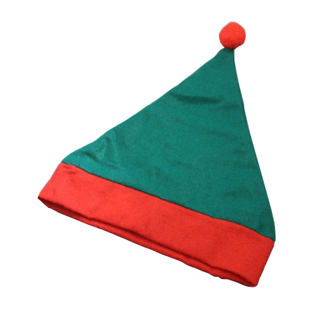 Child Size Child Size Christmas Elf Hat in Green with Red Trim