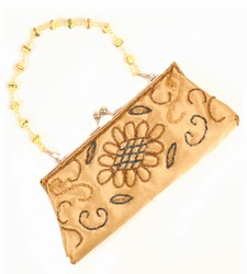 -Gold with Blue/Bronze Sequins-Ladies Handbags