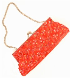 -Red with Red Sequins-Ladies Handbags