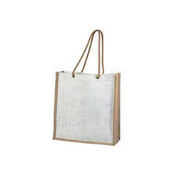 Medium Natural + White Jute Bags