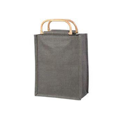 Mid Night Grey/Black Jute Bag