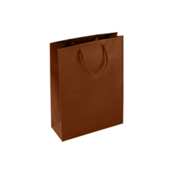 ed8384045383 Small Chocolate Brown Paper Bag Matt