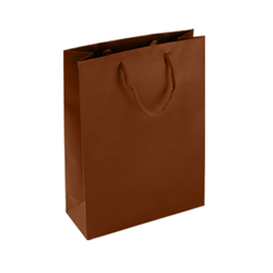 Medium-Chocolate Brown-Paper Bag