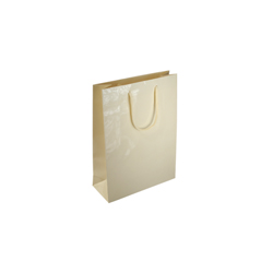 Extra Small Cream Paper Gift Bag
