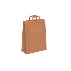 Small-Brown-Flat Tape Kraft Bag
