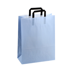 Medium Light Blue Kraft Paper Bag