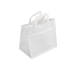 Medium White Kraft Paper Bag