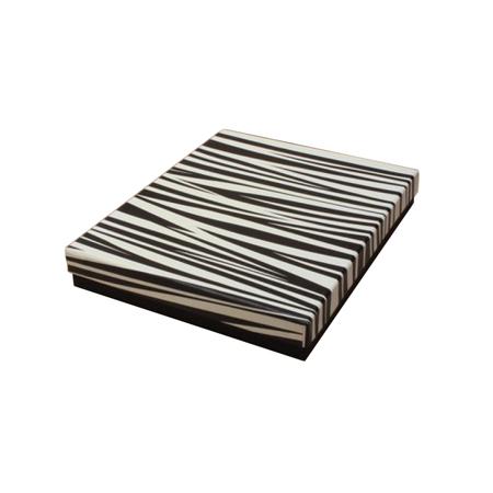 Large Zebra Print Lid Gift Box