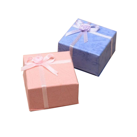 Extra Small Pink and Lilac Gift Box with satin ribbon