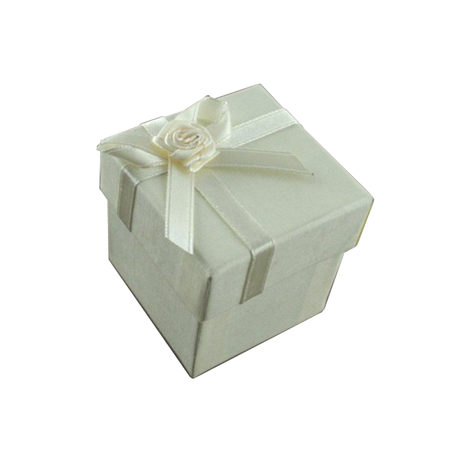 Extra Small Ivory Gift Box with Ribbon Bow