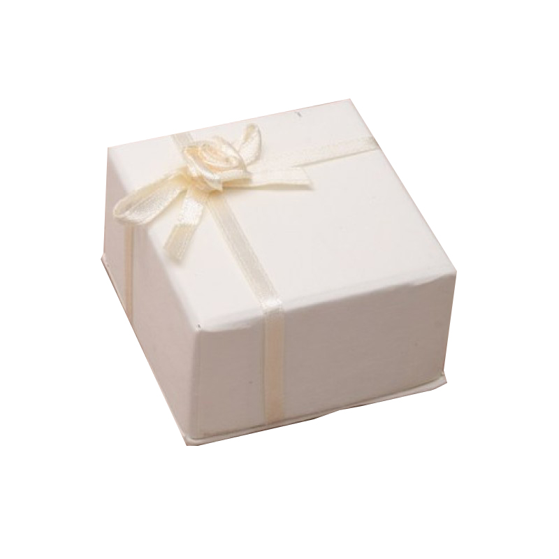 Extra Small Ivory Gift Box with satin ribbon