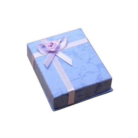 Small Lilac Gift Box with Satin Ribbon Detail